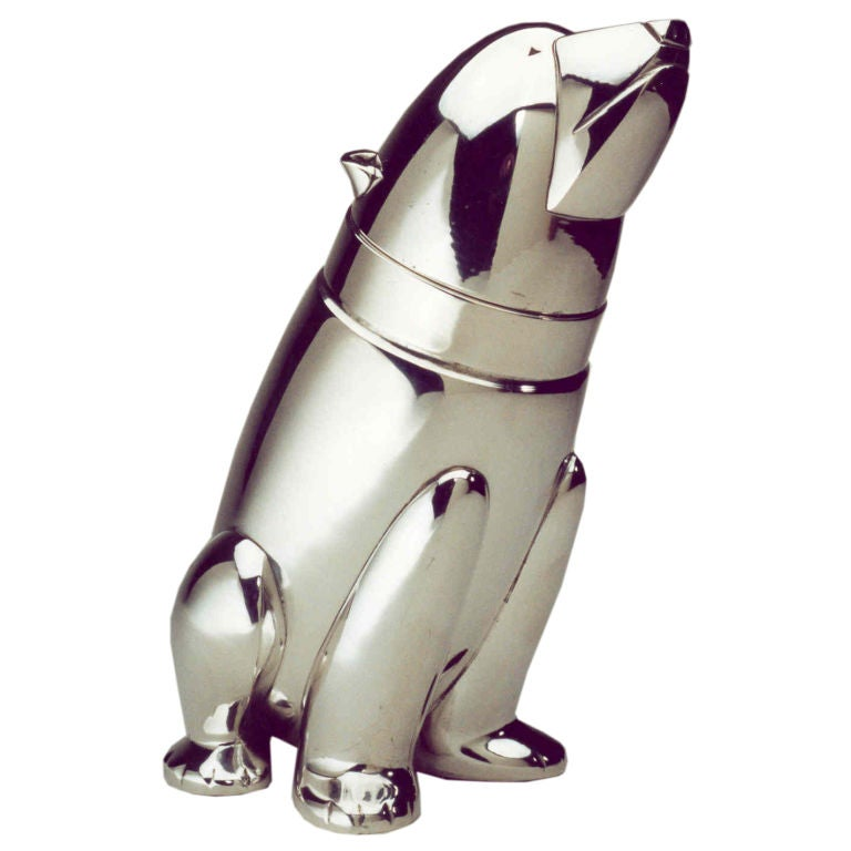 'Polar Bear' cocktail shaker. For Sale