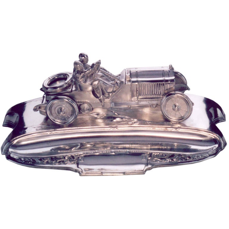 Lorraine-Dietrich Racing-Car Inkwell. For Sale