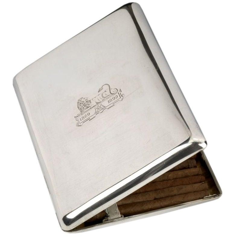 Large silver cigarette case, c. 1930
