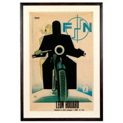 Original 'FN Motorcycles' poster by Marcello Nizzoli, 1930