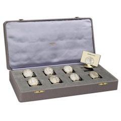 Hermès Paris Louis XVI 'coin' place card holders.
