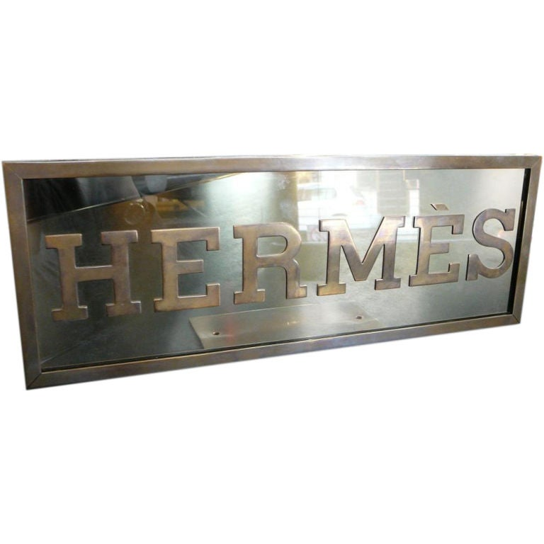 Hermès store display sign.