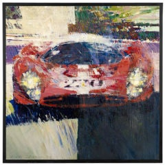 '1967 Targa Florio, Ferrari P4' by Dexter Brown, 1980