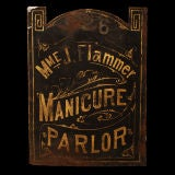 Madame Flammer's Manicure Parlor - Vintage Trade Sign thumbnail 3