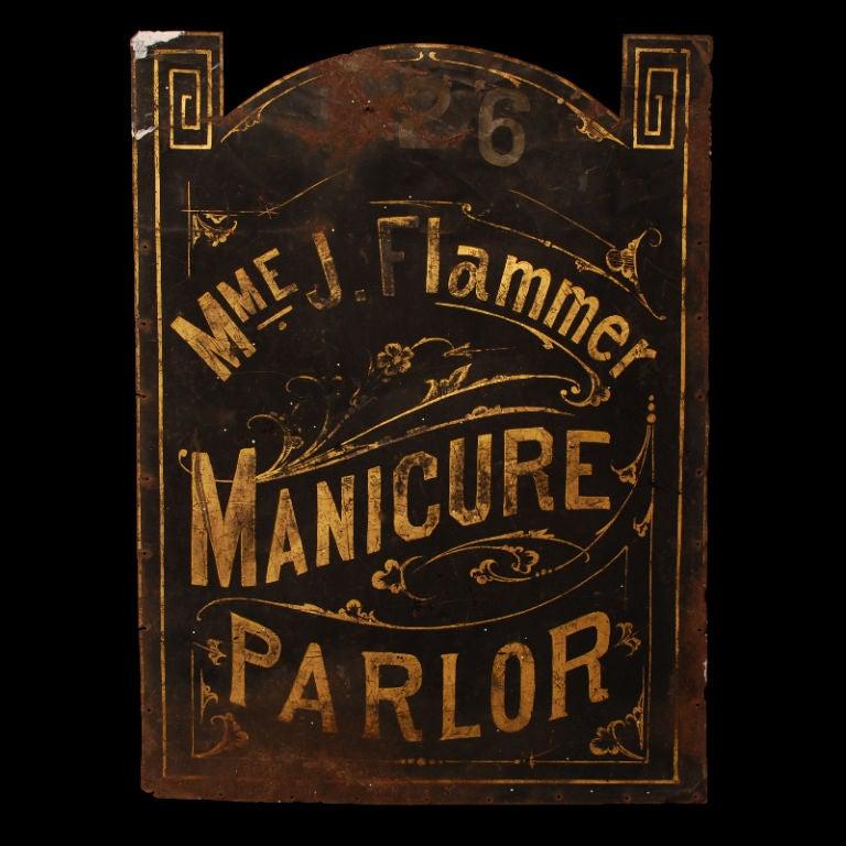 Madame Flammer's Manicure Parlor - Vintage Trade Sign image 3