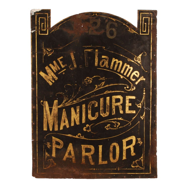 Madame Flammer's Manicure Parlor - Vintage Trade Sign