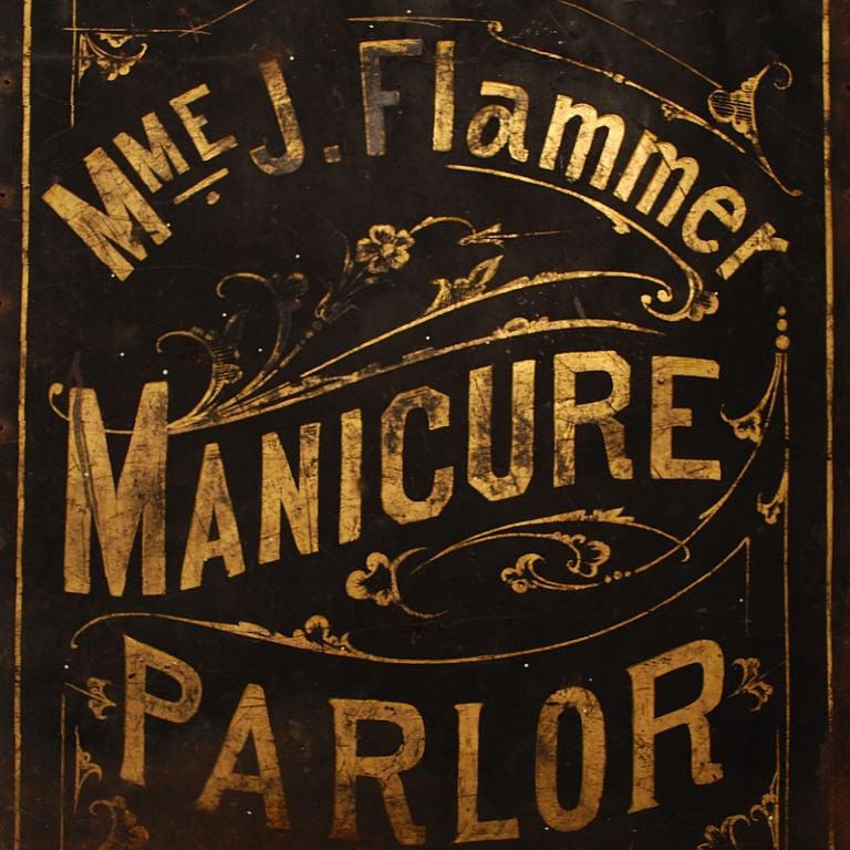 Madame Flammer's Manicure Parlor - Vintage Trade Sign image 4