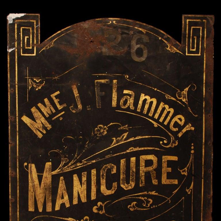 Madame Flammer's Manicure Parlor - Vintage Trade Sign image 5