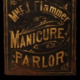 Madame Flammer's Manicure Parlor - Vintage Trade Sign thumbnail 6