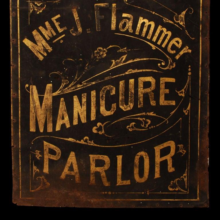 Madame Flammer's Manicure Parlor - Vintage Trade Sign image 6