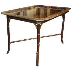 Paper Mache Tray Table, circa 1860 - 1880