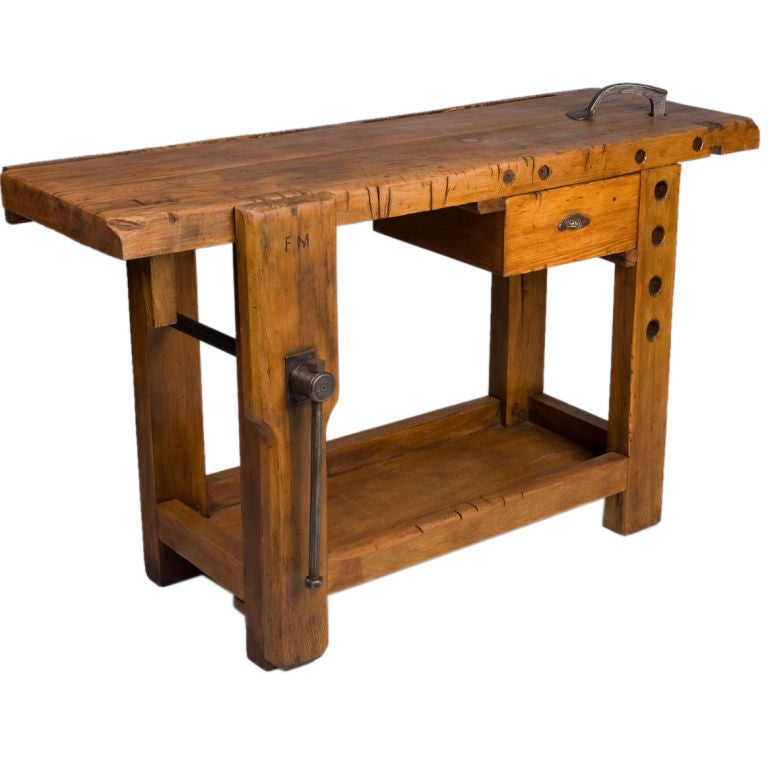 French Country Carpenter 39 S Work Bench At 1stdibs