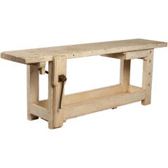 French Painted Carpenter's  Workbench