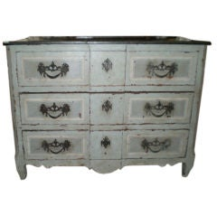 Large 18th Century French Three-Drawer Louis XV Painted Commode