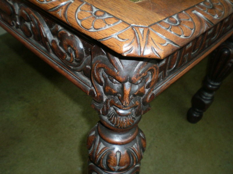 Renaissance 19th Century Italian Two-Drawer Desk Or Writing Table For Sale