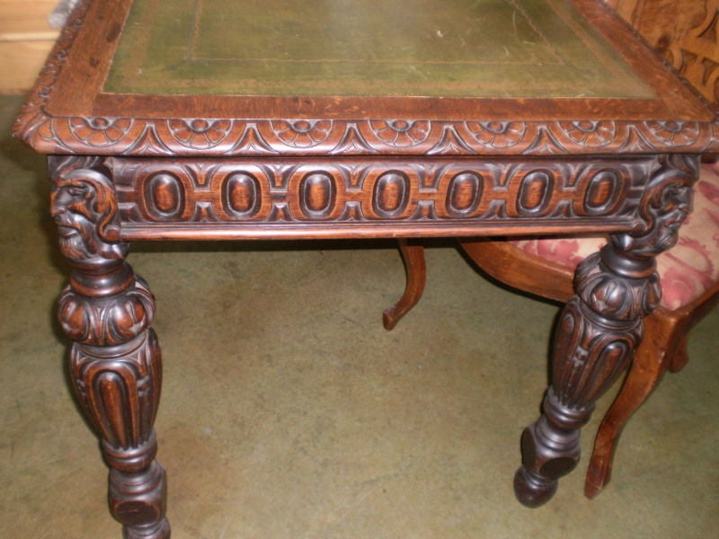 19th Century Italian Two-Drawer Desk Or Writing Table In Good Condition For Sale In Houston, TX