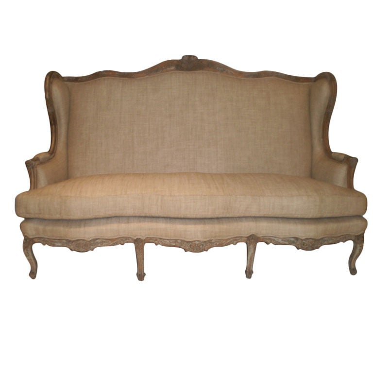19th century french louis xv style canap or sofa for sale