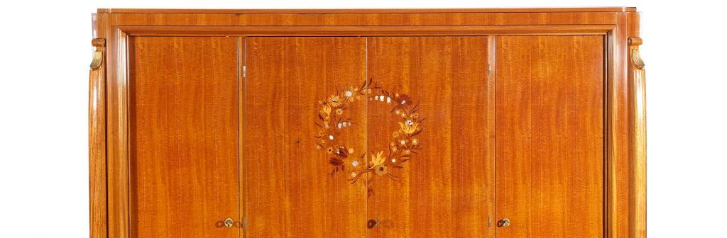 Style Of Jules Leleu French Art Deco Armoire At 1stdibs