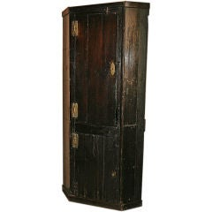 17th-18th Century Painted English Corner Cabinet