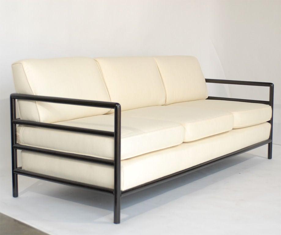 Clean Lined Modernist Sofa Designed By T.H. Robsjohn