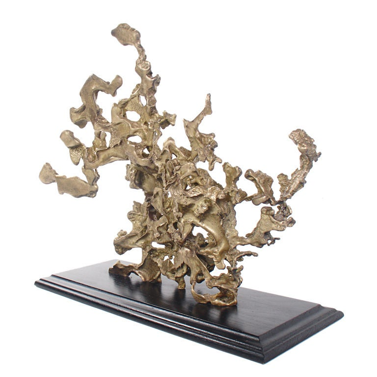 Abstract Coral Form Bronze Sculpture at 1stdibs