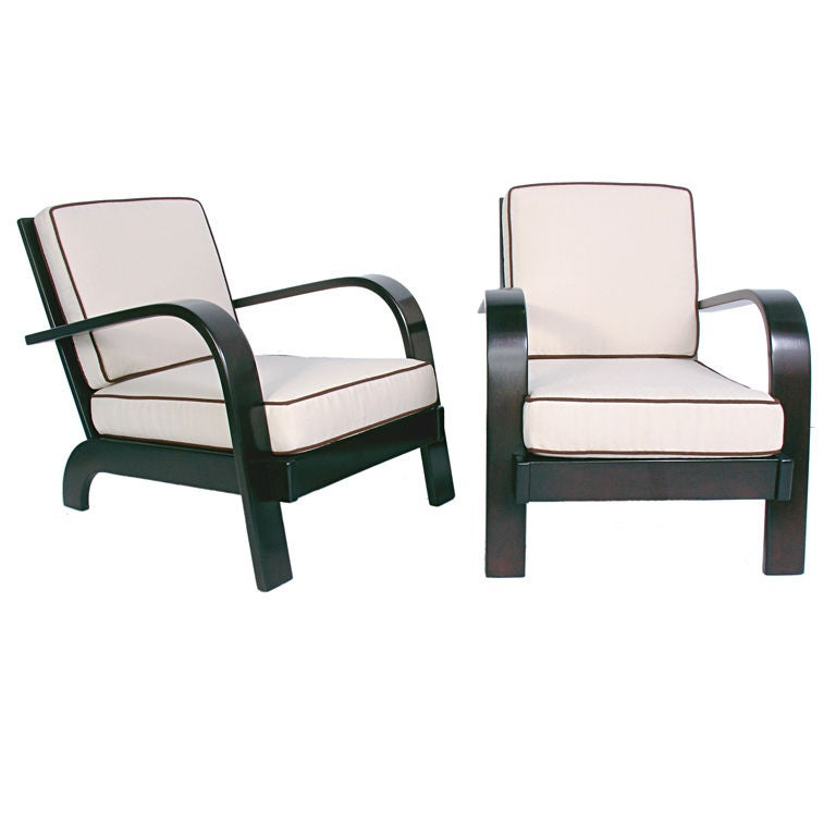 Pair of Streamlined Lounge Chairs by Russel Wright - circa 1940s