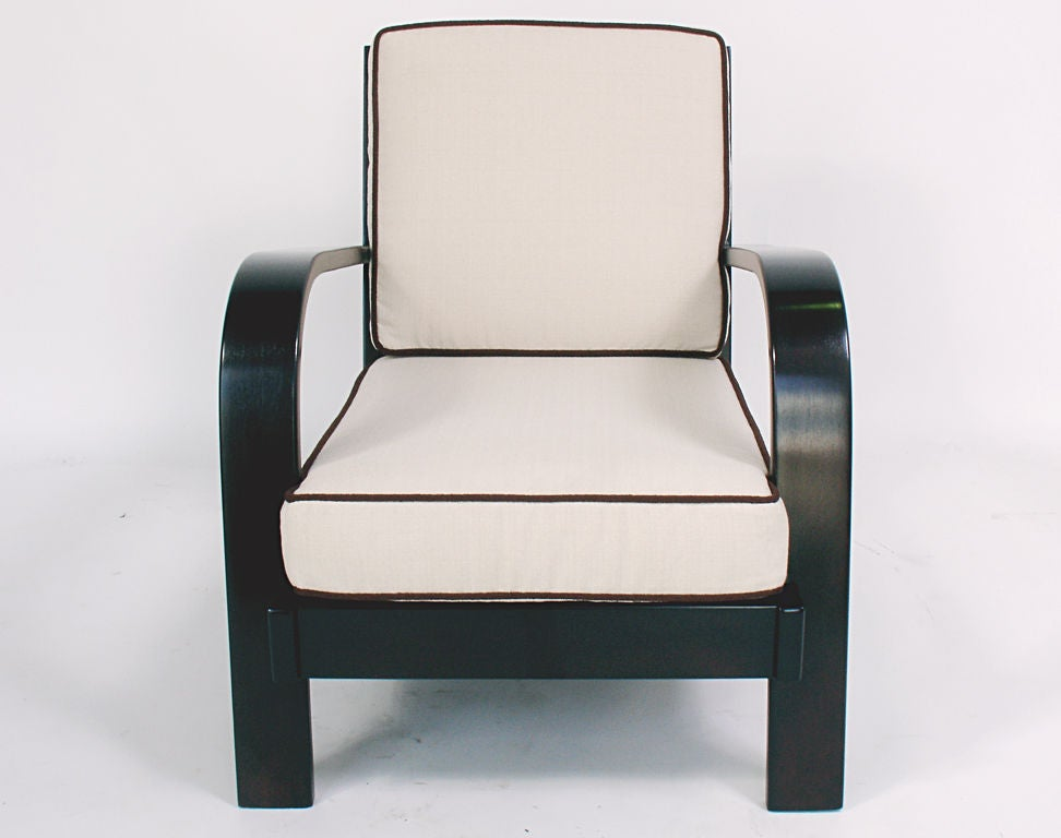 Pair of Streamlined Lounge Chairs by Russel Wright - circa 1940s In Excellent Condition In Atlanta, GA
