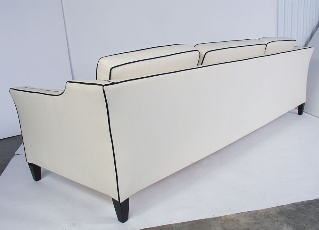 Glamorous art deco sofa circa 1940 39 s great lines 8 for 8 foot couch