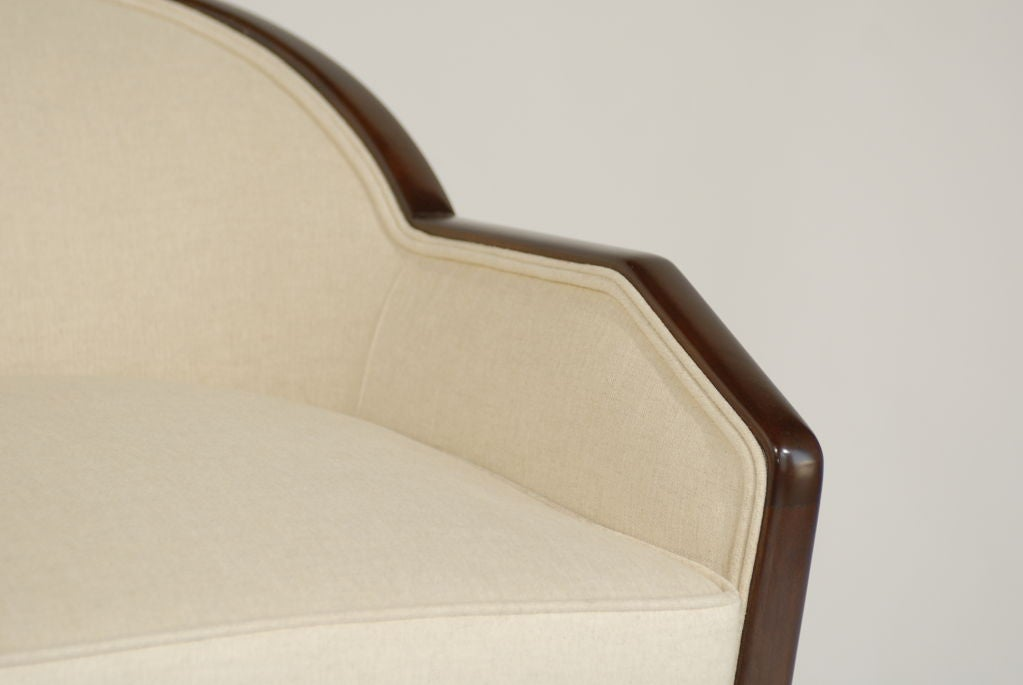 Eugene Schoen Custom Rosewood Tub Chair Circa 1930 39 S At 1stdibs