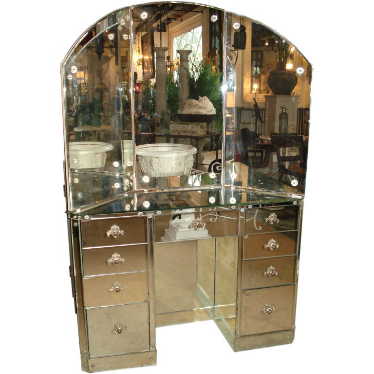 Mirrored dressing table at stdibs