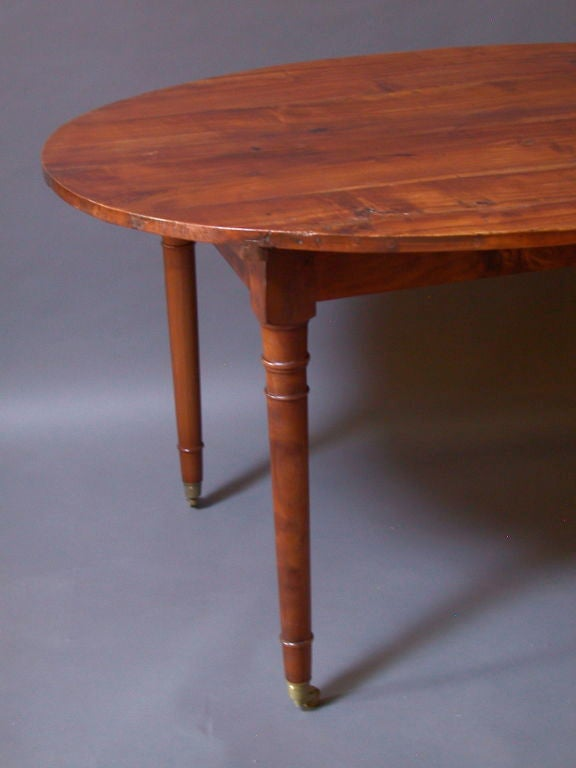 French Provincial Oval Farmhouse Dining Table at 1stdibs