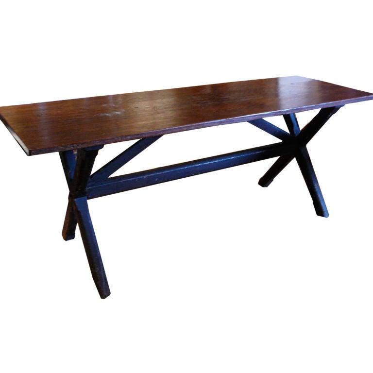 19th century English Trestle Table at 1stdibs : XXXp1010934 from www.1stdibs.com size 768 x 768 jpeg 31kB