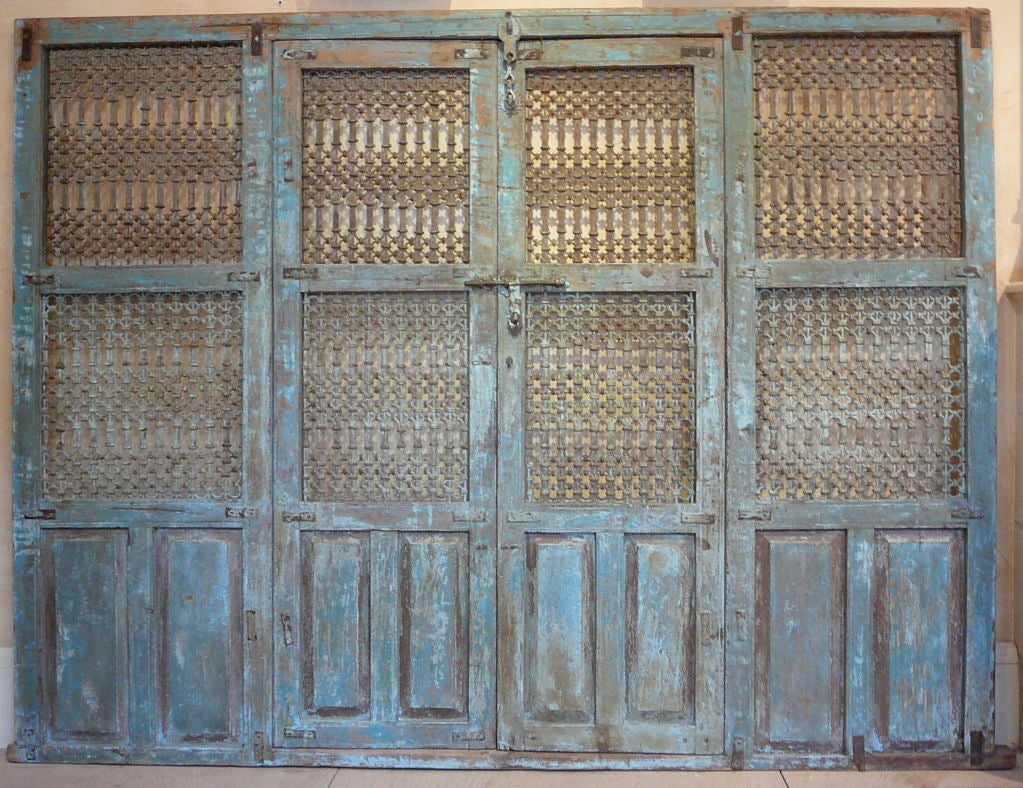 Remarkable Pair of 18th Century Indian Doors.