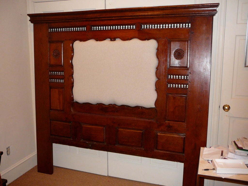 19th Century French Provincial Cherrywood Bed Frame. image 2