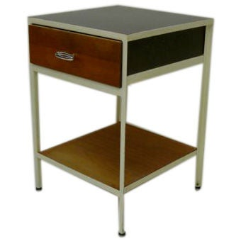 George Nelson Steel Frame Nightstand