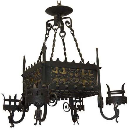 Me val Style Iron Chandelier at 1stdibs