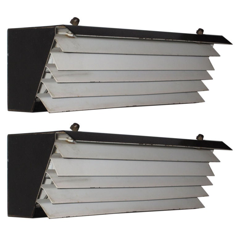 2 Pairs of Wall Lights by Jacques Biny