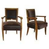 Pair of Bridge Armchairs by Jean Pascaud