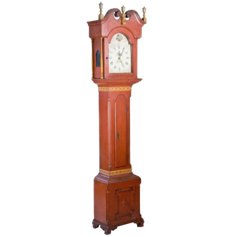 Painted Tall-Case Clock