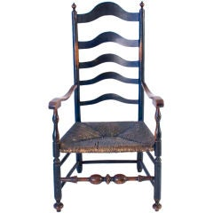 Maple Five Slat Ladderback Arm Chair
