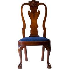 Walnut Queen Anne Balloon Seat Side Chair