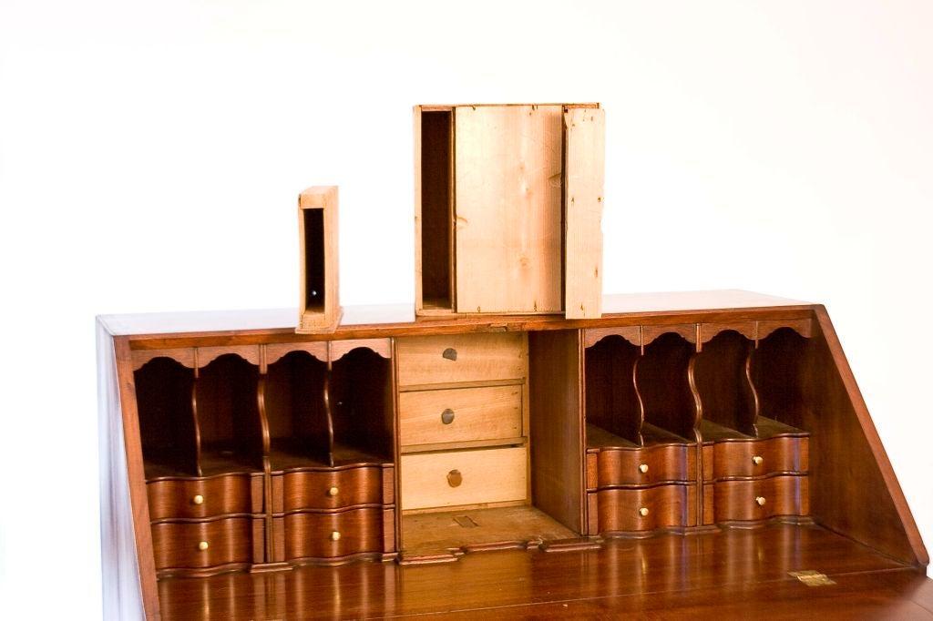Tulipwood Walnut Chippendale Slant-Front Desk For Sale