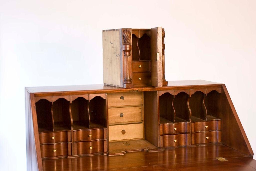 Walnut Chippendale Slant-Front Desk For Sale 1