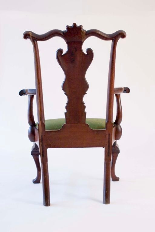 Walnut Queen Anne Armchair image 3