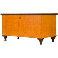 Pine Sheraton Grain-Painted Blanket Chest