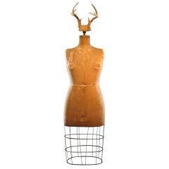 Full Figured Horned Linen Dress Form