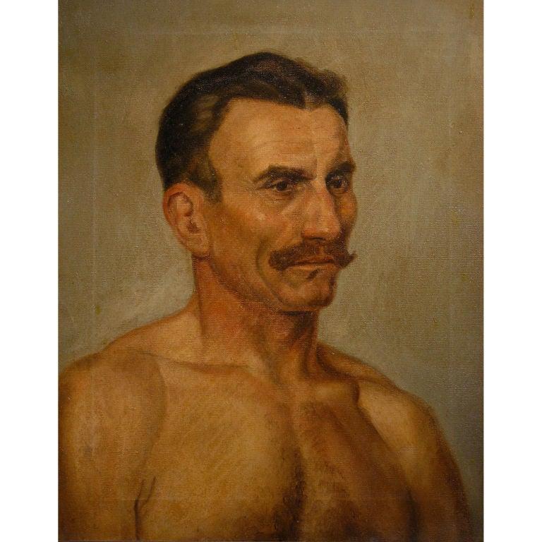 Oil Portrait of a Boxer