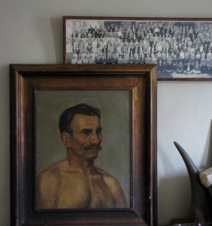 American Oil Portrait of a Boxer