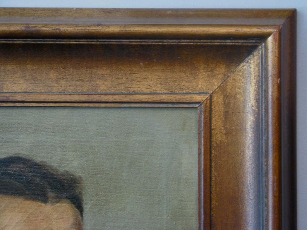 Wood Oil Portrait of a Boxer