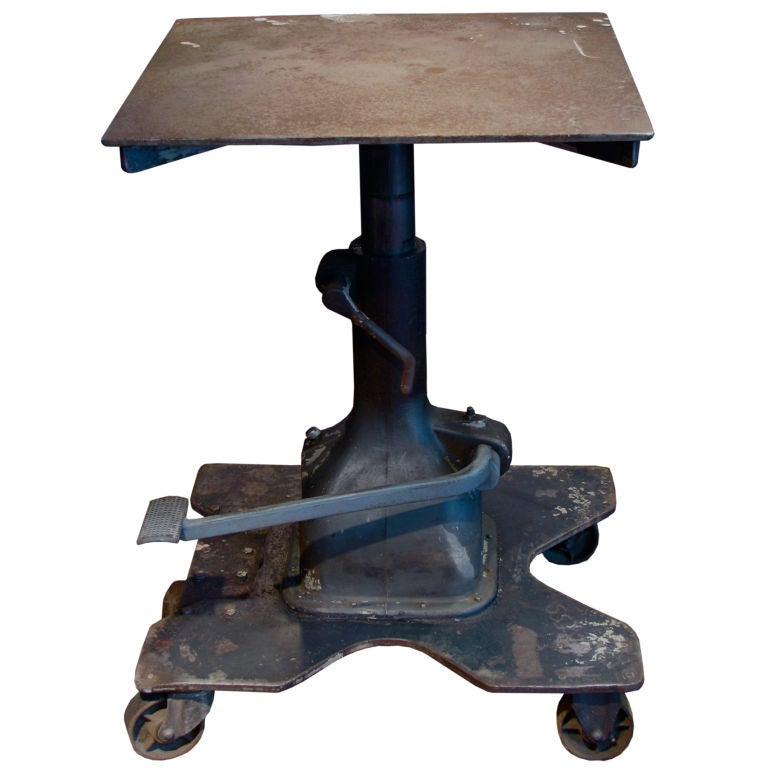 Industrial Hydraulic Lift Table At 1stdibs
